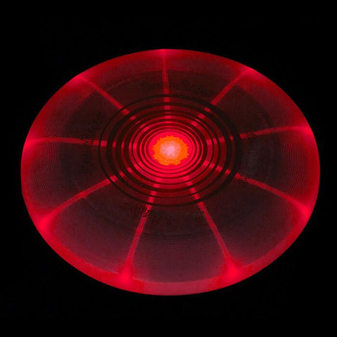 Image of An image showing Nite Ize Flashflight LED Red Light-Up 185g Beach and Catch Sports Frisbee