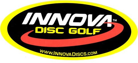 An image showing Innova disc golf. Oval logo sticker