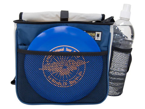 An image showing Innova Starter Bag, Blue in color. A disc golf bag for frisbee