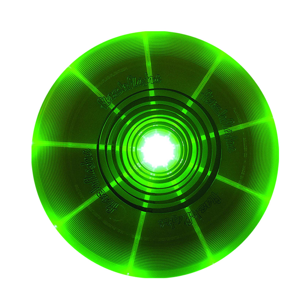 Nite Ize Flashflight LED Light-Up 185g Beach and Catch Sports Frisbee Disc - GREEN COLOUR