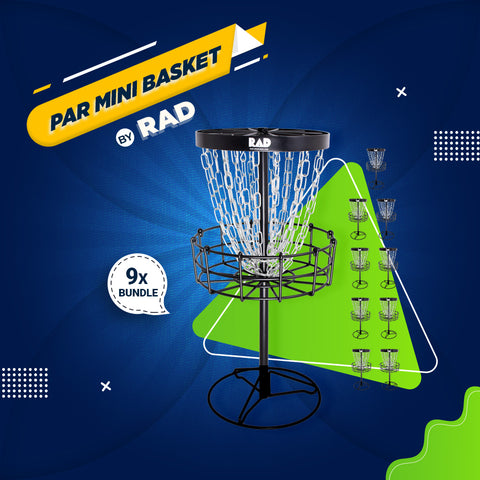 Bundle 7 - 9 Mini Disc Golf Basket by RAD