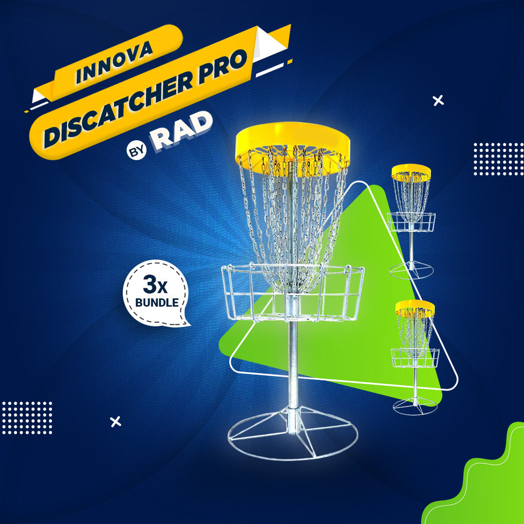Bundle 5 - 3 Disc Golf Innova DISCatcher®️ Pro Basket by RAD