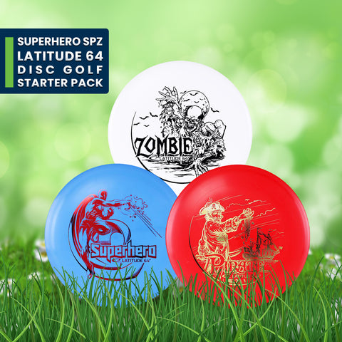 SuperHero SPZ Latitude 64 Disc Golf Starter Pack