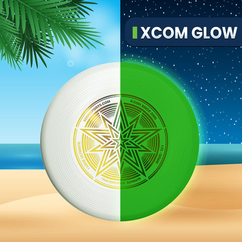 *** GLOW **** XCOM 175G PROFESSIONAL ULTIMATE FLYING DISC