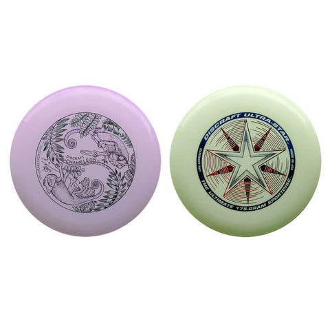 Image of An image showing UV & Glow Discraft Ultra-Star Combo Pack a discs golf for frisbee.