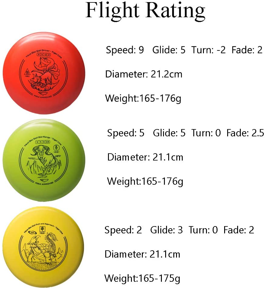 Yikun Discs Starter Disc Golf Set