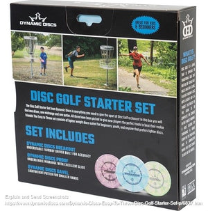 Dynamic Discs Easy to Throw Disc Golf Starter Pack