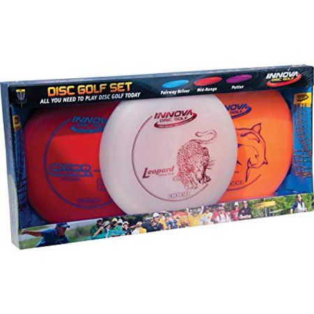Image of Innova Disc Golf Set – Driver, Mid-Range & Putter, Comfortable DX Plastic, Colors May Vary (3 Pack)