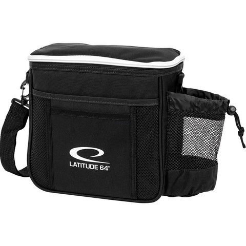 Image of An image showing Latitude 64 Disc Golf Slim Bag. Black bag for disc golf frisbee