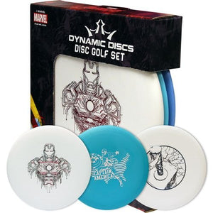 An image showing Dynamic Discs Marvel Prime. Disc golf set for frisbee