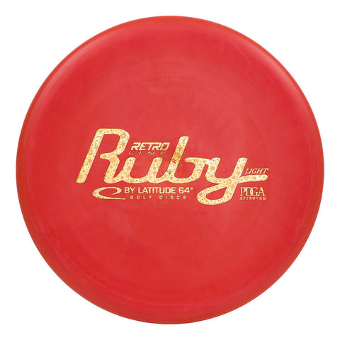 Image of An image showing Latitude 64 Disc Golf, red in color. A disc golf for frisbee
