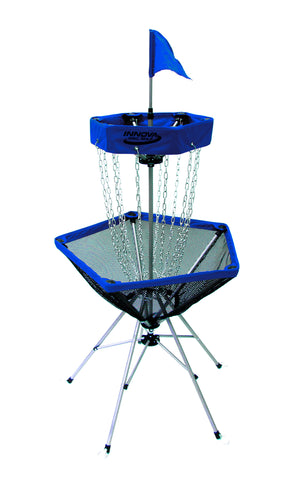 An image showing disc catcher traveler, blue in color