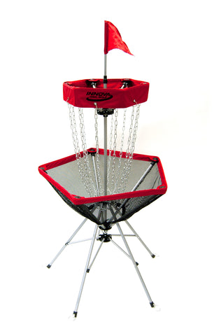 An image showing disc catcher traveler, red in color