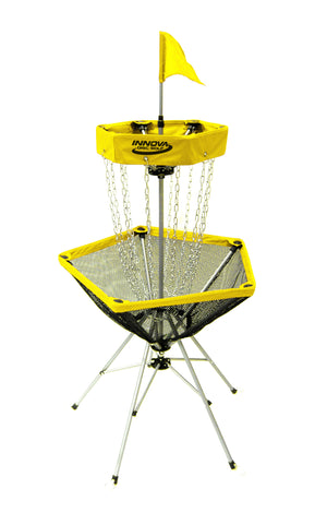 An image showing disc catcher traveler, yellow in color