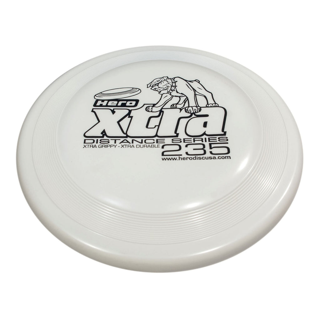 An image showing Superhero Dog Disc, White in color. A disc golf for frisbee.