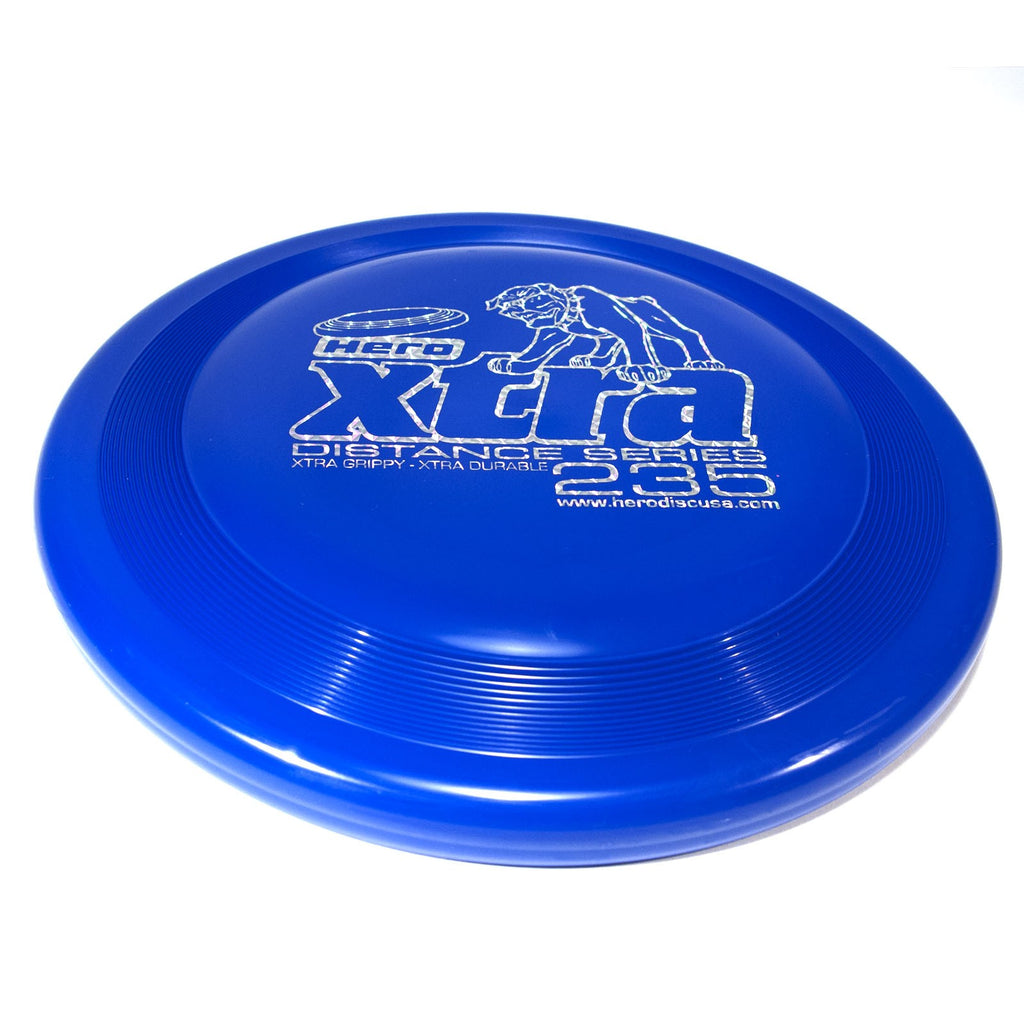 An image showing Superhero Dog Disc, Blue in color. A disc golf for frisbee.