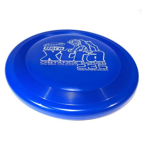 Image of An image showing Superhero Dog Disc, Blue in color. A disc golf for frisbee.