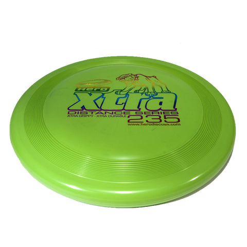 Image of An image showing Superhero Dog Disc, Green in color. A disc golf for frisbee.