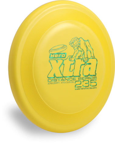 Image of An image showing Superhero Dog Disc, Yellow in color. A disc golf for frisbee.