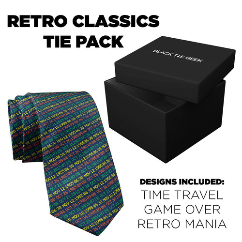 Retro Classics Tie Pack (3 ties + 3 pocket squares)