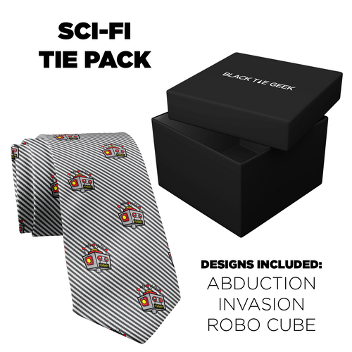 Sci-Fi Tie Pack (3 ties + 3 pocket squares)