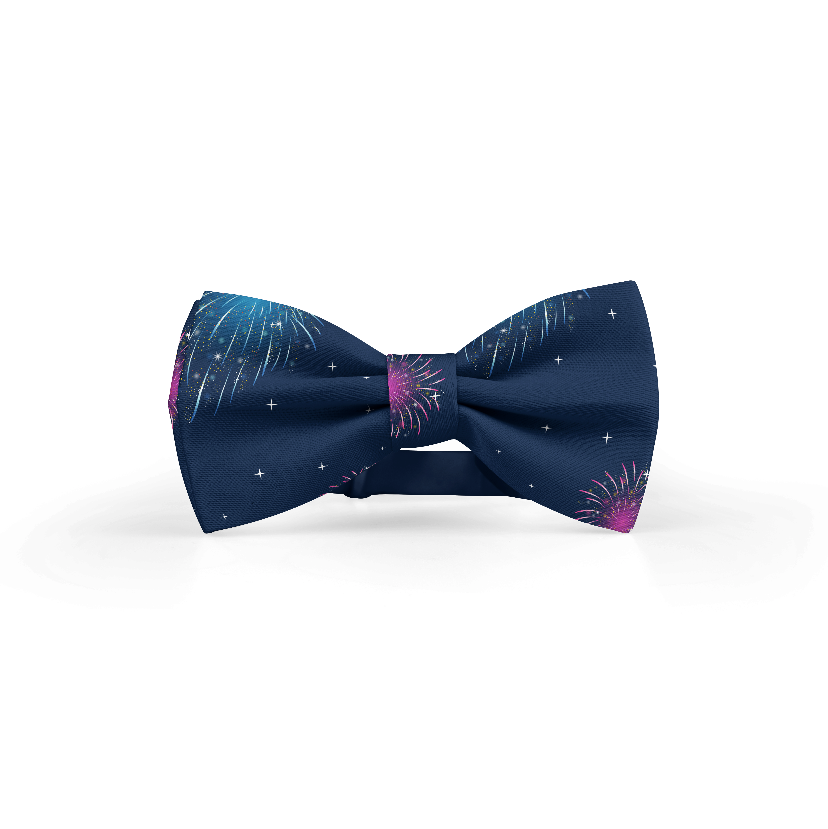 New Year's Flare Bowtie + Pocket Square Bundle