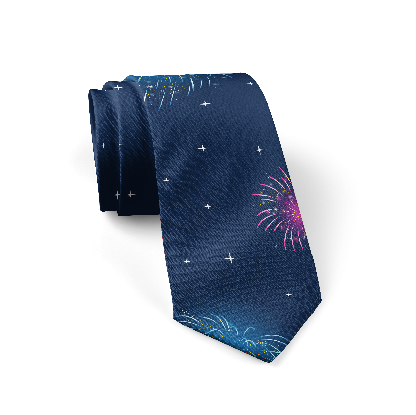 New Year's Flare Tie + Pocket Square Bundle