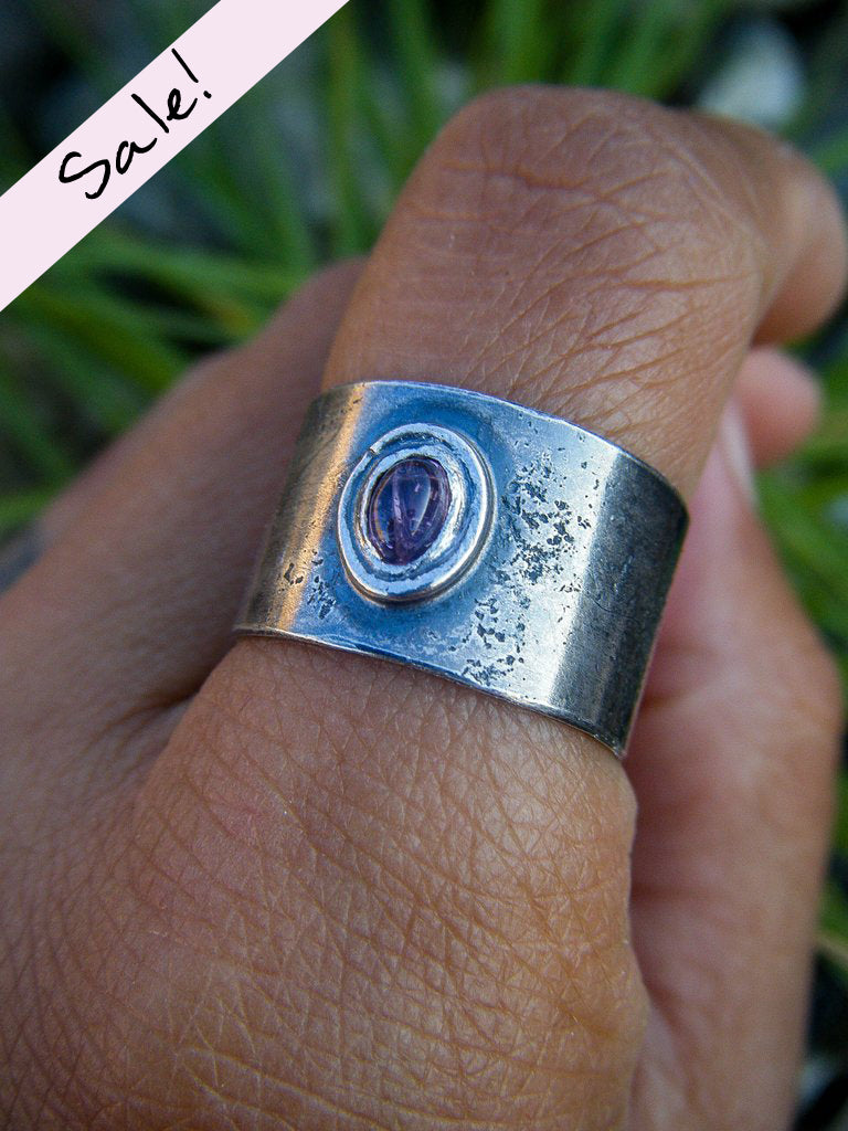SALE // Sublime Pink Tourmaline Earth Ring// Aristan Silver Ring Size 9