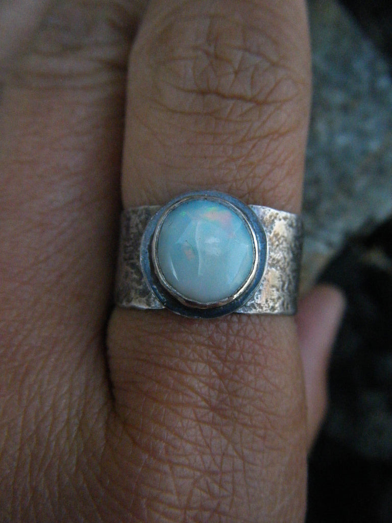 Elemental Opal Sterling Silver Ring // Size - 7.5