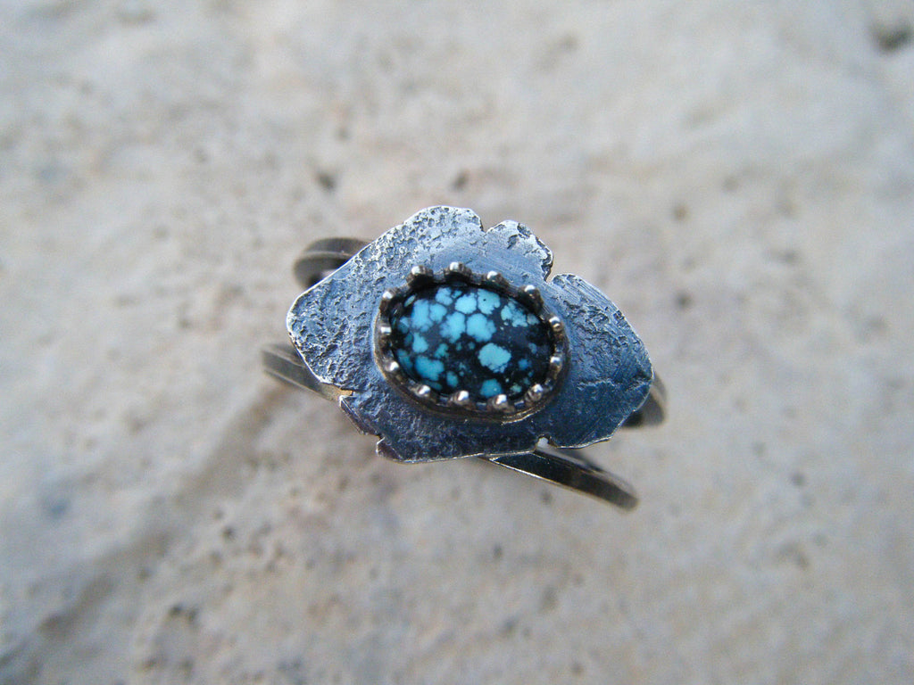 Terra Turquoise Ring// 925 Sterling Silver// Size 8