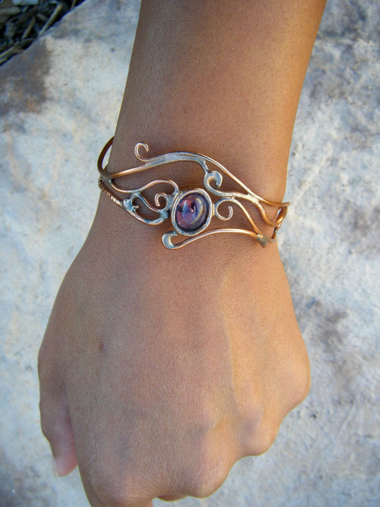 *NEW* Wind Song Elvin Warrior Bracelet With Amethyst Crystal// Wearable Art