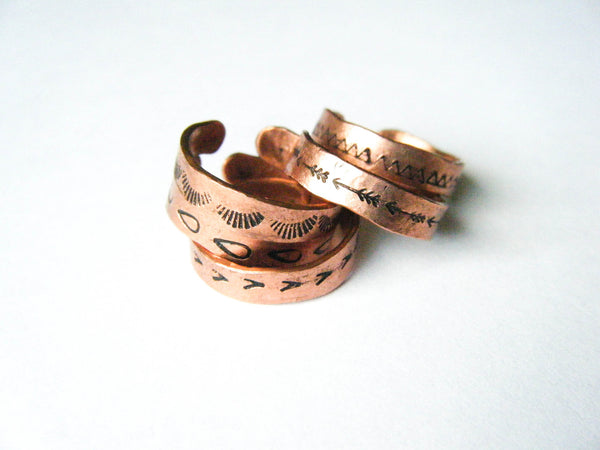 The Traveler // Copper Knuckle Rings