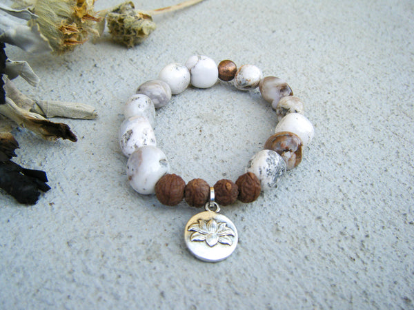 Lotus Yoga Beaded Bracelet