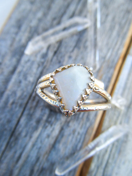 Opal Lover's Exquisite Statement Ring Size 7 // One Of a Kind Wearable Art