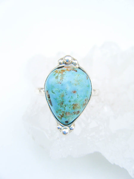 Turquoise Lover's Ring Size 7 // One Of a Kind