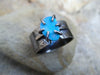 Infinite Ocean Blue Opal Ancient Crystal Ring// Size 9