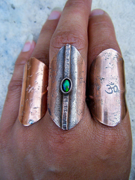 Massive Copper Talisman Ring// Choose Your Size, Made To Order