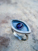 Inner Eye Purple Amethyst Statement Ring// 925 Sterling Size 8.25