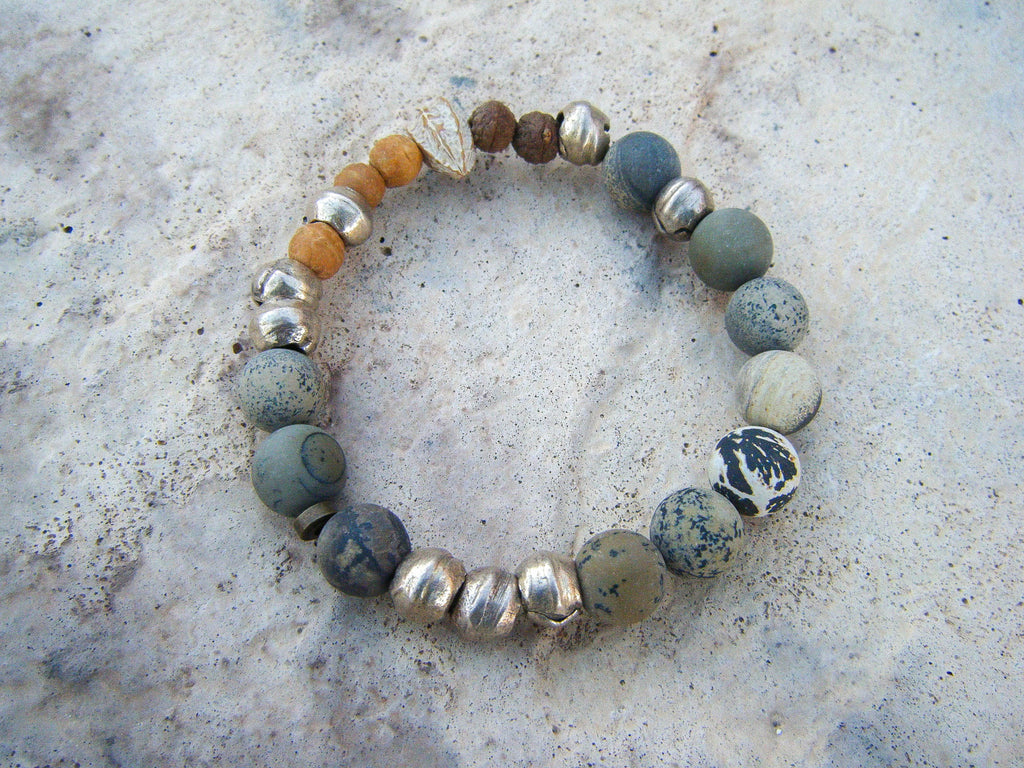 *NEW* Powerful Yin Landscape Jasper Beaded Bracelet// Yoga Jewelry