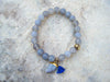 *NEW* Empowering Labradorite and Chalcedony Beaded Bracelet// Yoga Jewelry