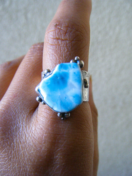 Infinite Waters Larimar Ocean Statement Ring// Size 9