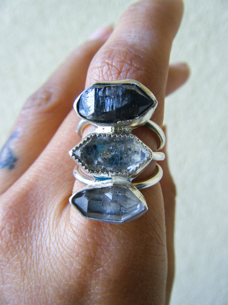 Tibetan Artisan Crystal Statement Ring// Size 7