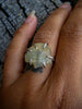 Raw Natural Aquamarine Silver Stacker// Size 7.25