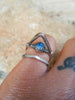 North Star//Tall Wearable Art Opal Ring in 925 Silver// Size 6