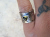 Ancient Tourmaline Earth Ring// Size 5.5