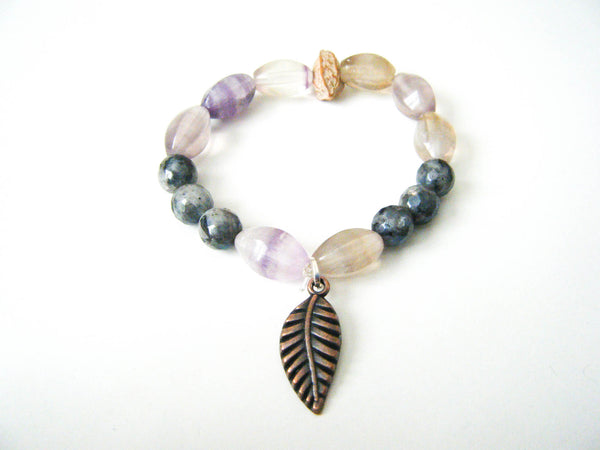Freedom Yoga Beaded Gemstone Bracelet