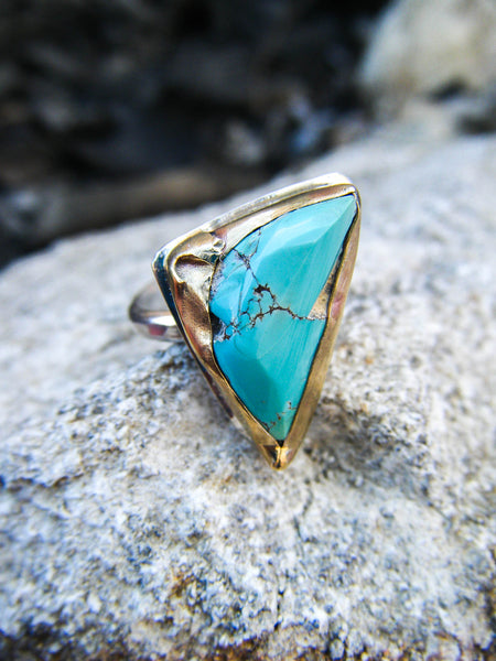 The Zivah Ring + Old Stock Royston Turquoise // 6.5