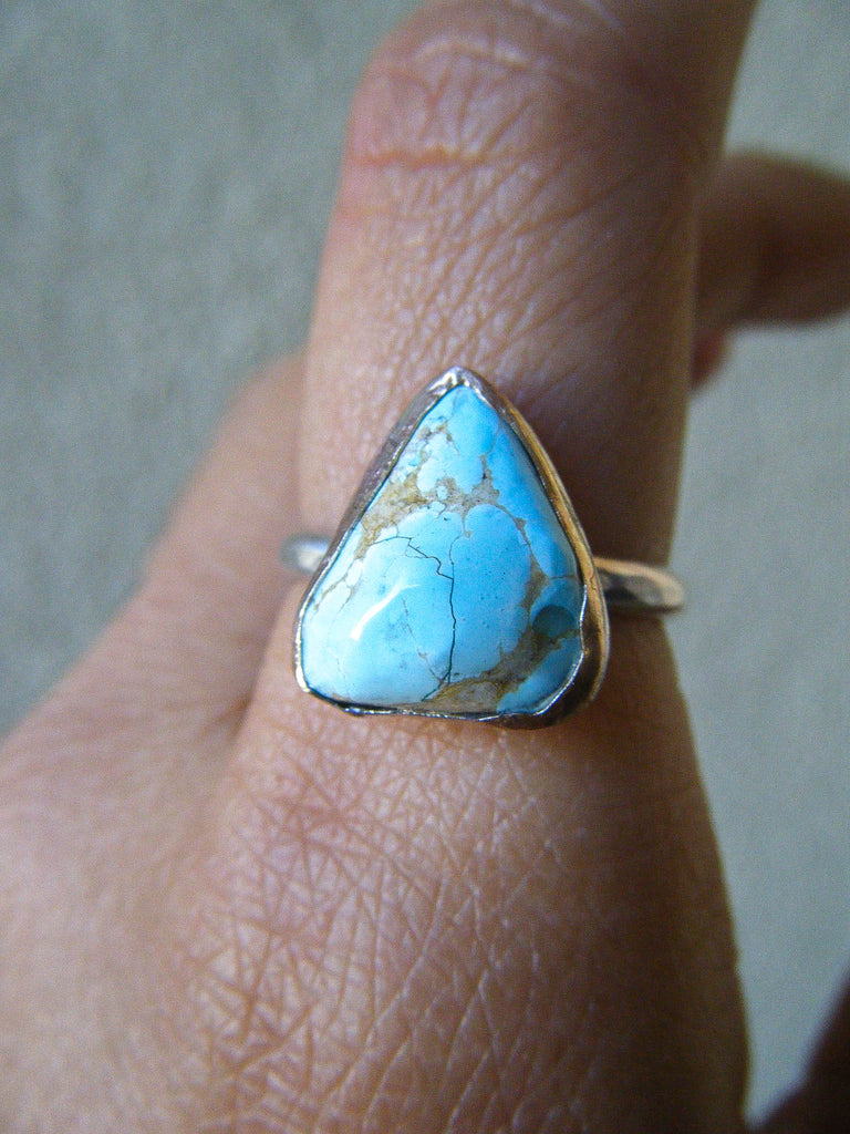 The Zivah Ring + Rare Sleeping Beauty Turquoise // Size 8.25