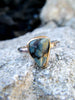 Ethereal Opal Ring// Sterling Silver// Size 6.25