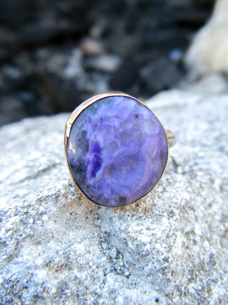 The Zivah Ring + Purple Charoite // Size 7
